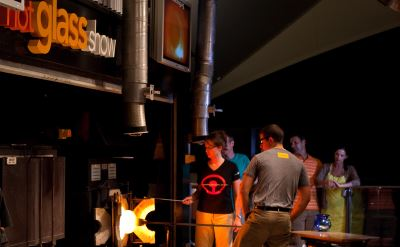 Celebrity Solstice hot glass show