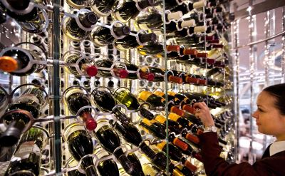 Celebrity Solstice wine rack